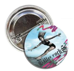 BALLET ROCKS Beach Life Button SKU 226