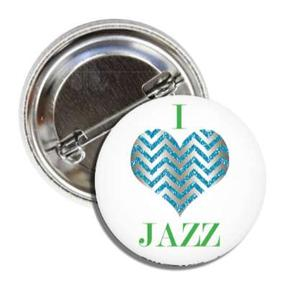 BALLET ROCKS I Love Jazz Button SKU 218