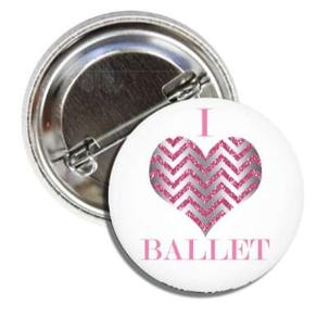 BALLET ROCKS I Love Ballet Button SKU 212