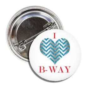 BALLET ROCKS I Love Broadway Button SKU 207