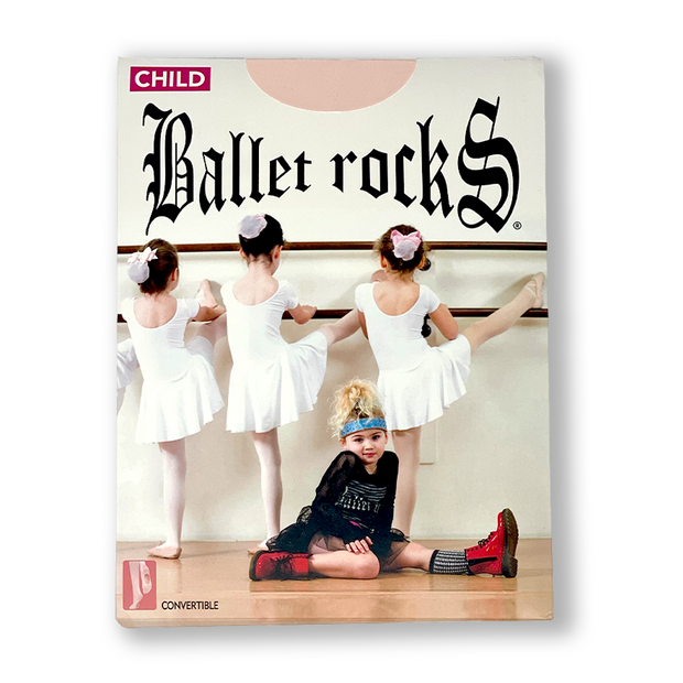 BALLET ROCKS Child MESH SEAMED Convertible Tights