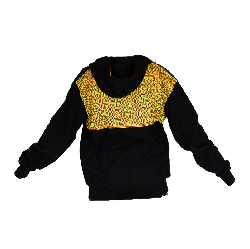Tribal Hoody with Hmong Fabric Back-The High Thai-The High Thai-Yoga Pants-Harem Pants-Hippie Clothing-San Diego