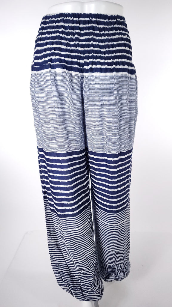 Striped Straight Leg Harem Pants In Light Blue-The High Thai-The High Thai-Yoga Pants-Harem Pants-Hippie Clothing-San Diego