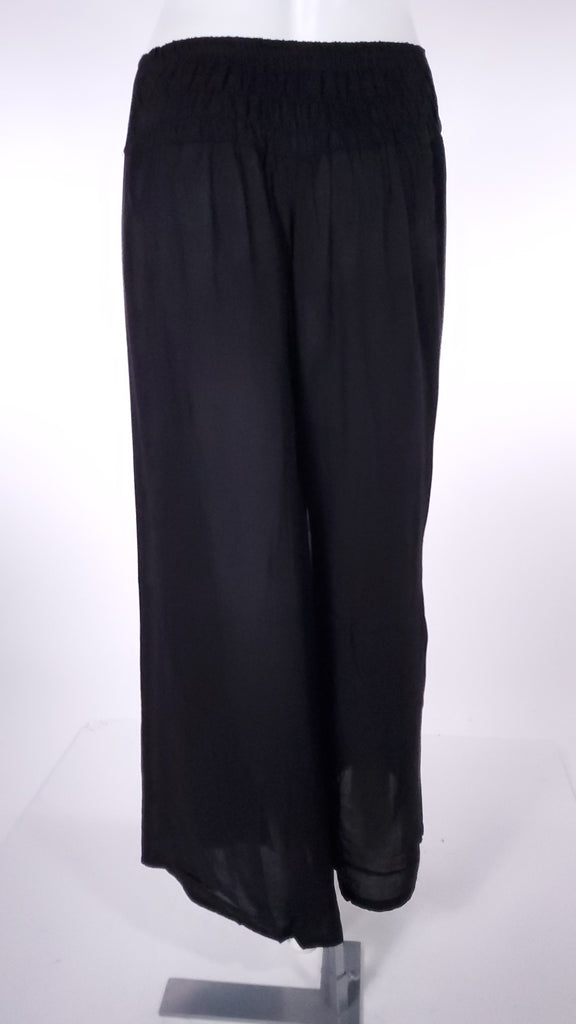 Solid BlackColor Open Leg Pants-The High Thai-The High Thai-Yoga Pants-Harem Pants-Hippie Clothing-San Diego