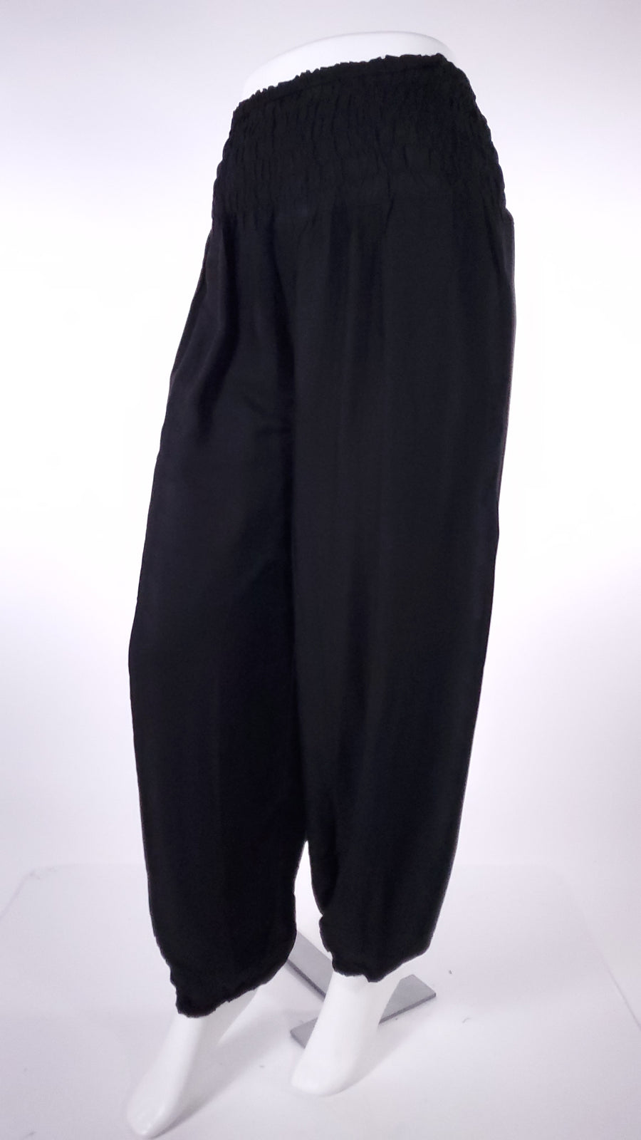 Straight Leg Harem Pants In Solid Black-The High Thai-The High Thai-Yoga Pants-Harem Pants-Hippie Clothing-San Diego