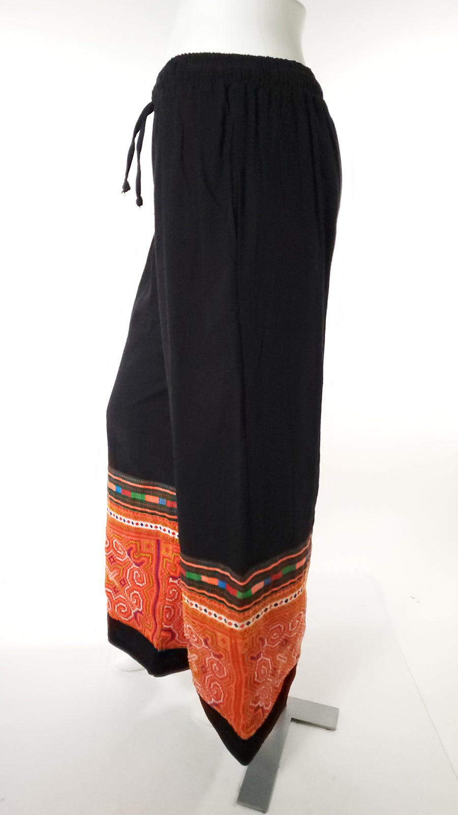 Upcycled Tribal Fabric Pants in Black-The High Thai-The High Thai-Yoga Pants-Harem Pants-Hippie Clothing-San Diego