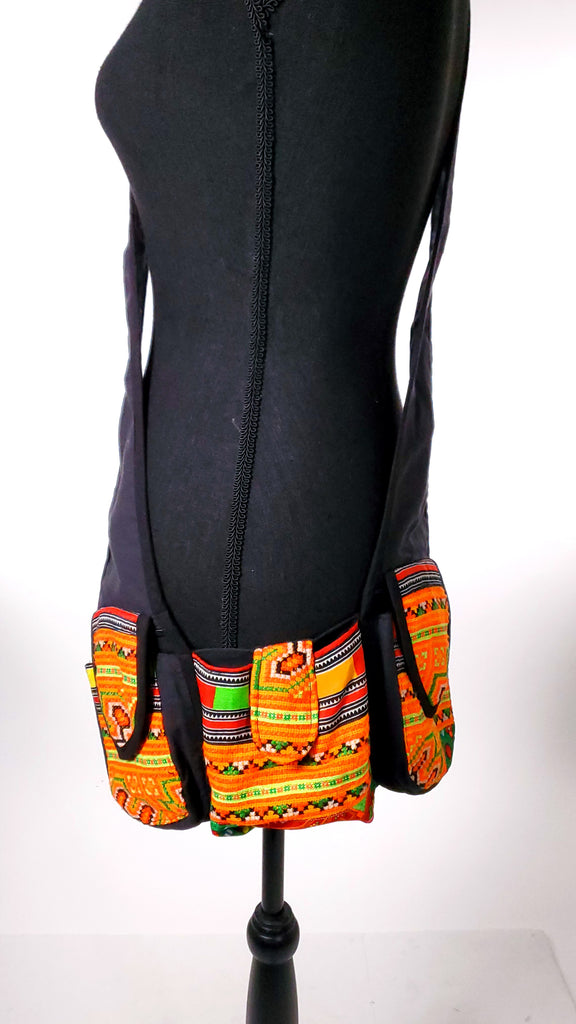 Tribal Shoulder Throw / Holster Vest-The High Thai-The High Thai-Yoga Pants-Harem Pants-Hippie Clothing-San Diego