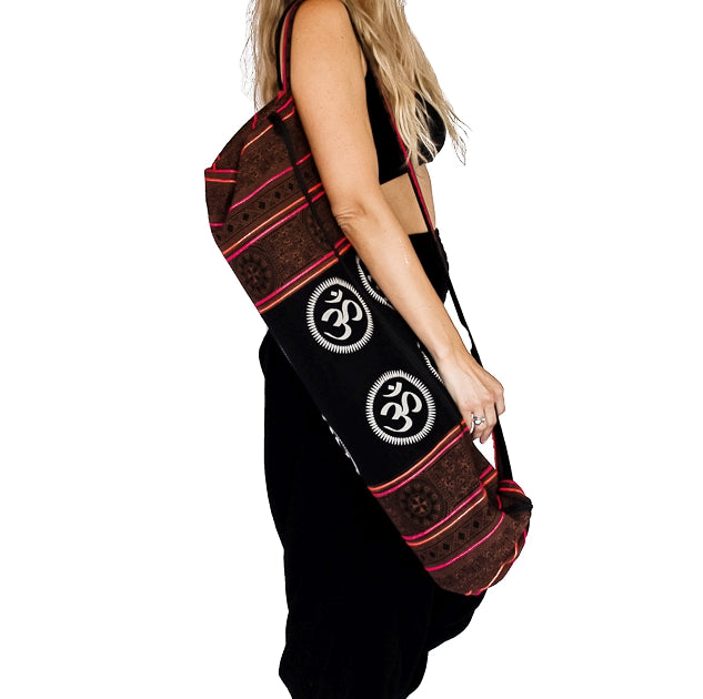 Om Design Yoga Mat Bag in Tribal Brown-The High Thai-The High Thai-Yoga Pants-Harem Pants-Hippie Clothing-San Diego