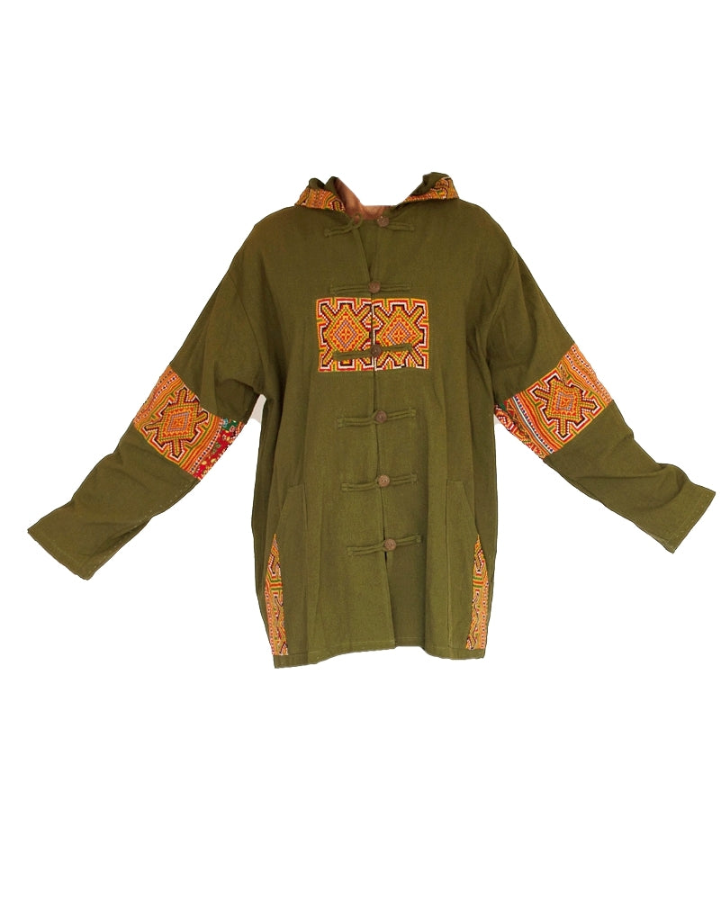 Tribal Button Down Jacket-The High Thai-The High Thai-Yoga Pants-Harem Pants-Hippie Clothing-San Diego