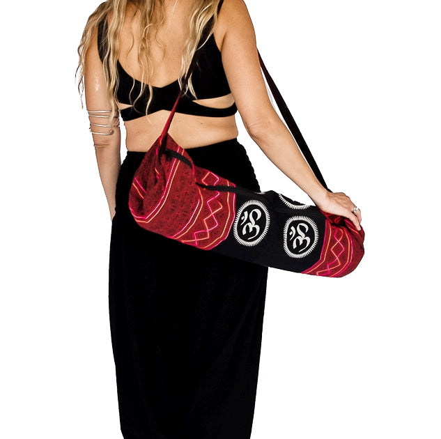 Om Design Yoga Mat Bag in Tribal Red-The High Thai-The High Thai-Yoga Pants-Harem Pants-Hippie Clothing-San Diego