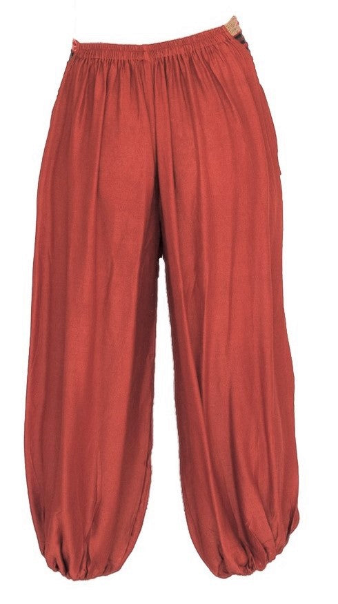 Men's Aladdin Pants in Orange-The High Thai-The High Thai-Yoga Pants-Harem Pants-Hippie Clothing-San Diego