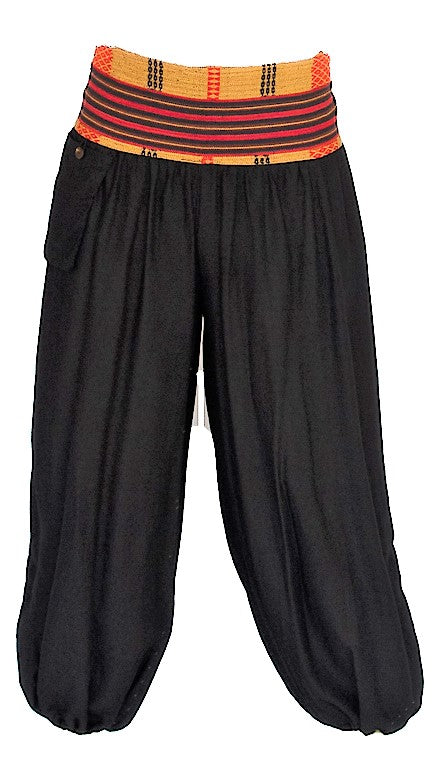 Men's Aladdin Pants in Black-The High Thai-The High Thai-Yoga Pants-Harem Pants-Hippie Clothing-San Diego