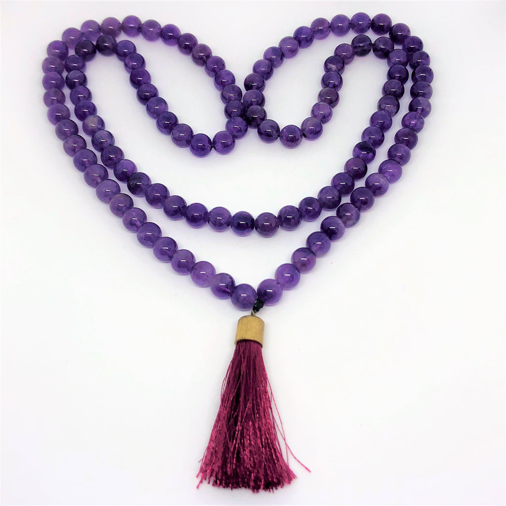 Mala Beads in Amethyst-The High Thai-The High Thai-Yoga Pants-Harem Pants-Hippie Clothing-San Diego
