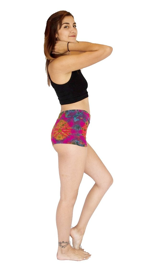 Tie Dye Shorts in Pink-The High Thai-The High Thai-Yoga Pants-Harem Pants-Hippie Clothing-San Diego