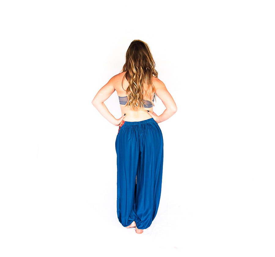 Women's Aladdin Pants in Sky Blue-The High Thai-The High Thai-Yoga Pants-Harem Pants-Hippie Clothing-San Diego