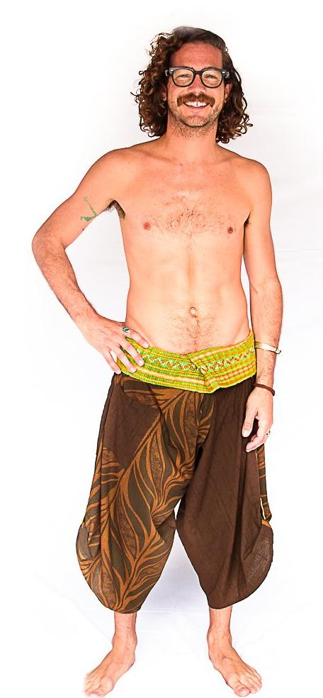Samurai Fisherman Shorts in Brown Branch-The High Thai-The High Thai-Yoga Pants-Harem Pants-Hippie Clothing-San Diego