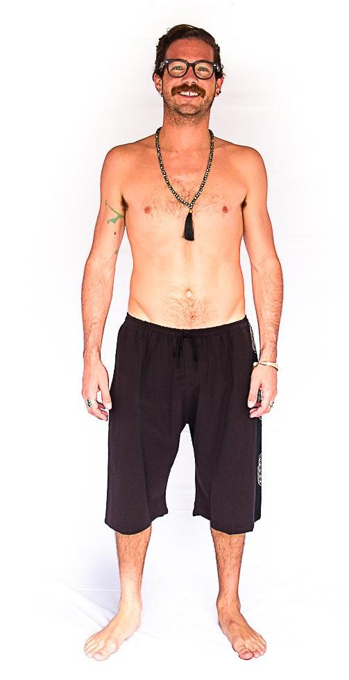 Flower of Life Lounge Shorts in Brown-The High Thai-The High Thai-Yoga Pants-Harem Pants-Hippie Clothing-San Diego