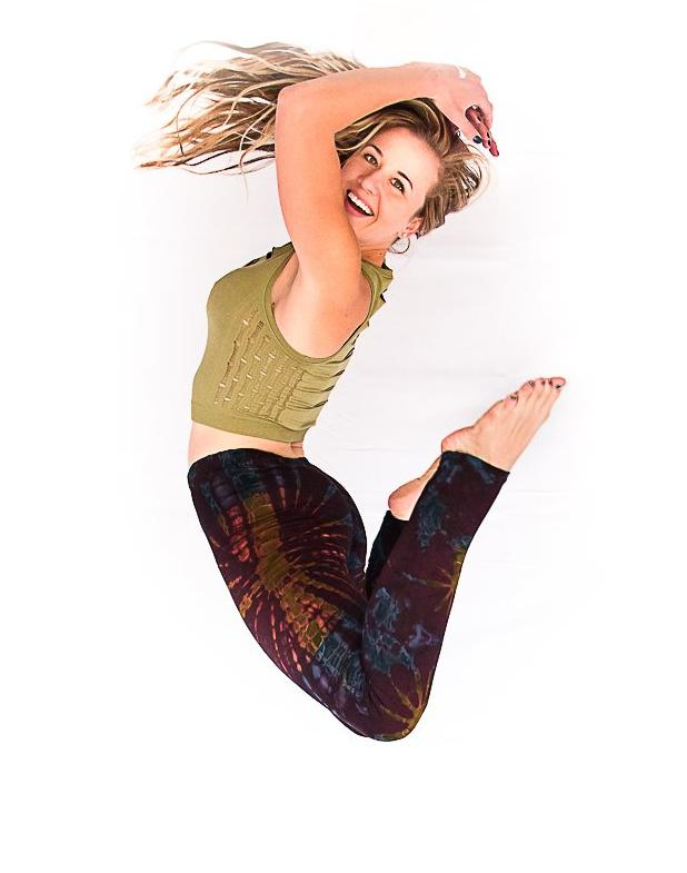 Tie Dye Leggings in Brown-The High Thai-The High Thai-Yoga Pants-Harem Pants-Hippie Clothing-San Diego