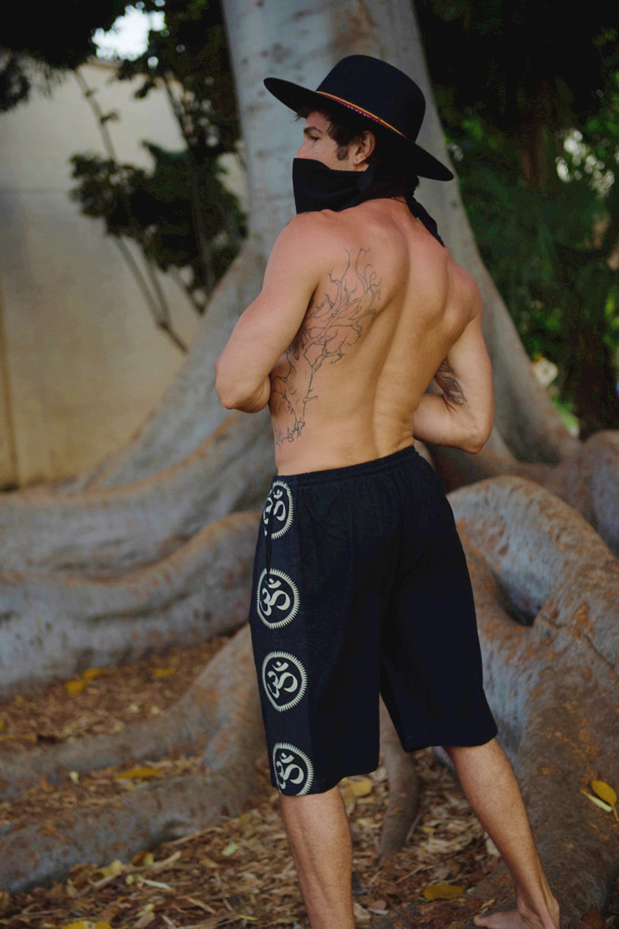 Om Lounge Shorts in Black-The High Thai-The High Thai-Yoga Pants-Harem Pants-Hippie Clothing-San Diego