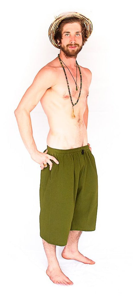 Flower of Life Lounge Shorts in Green-The High Thai-The High Thai-Yoga Pants-Harem Pants-Hippie Clothing-San Diego