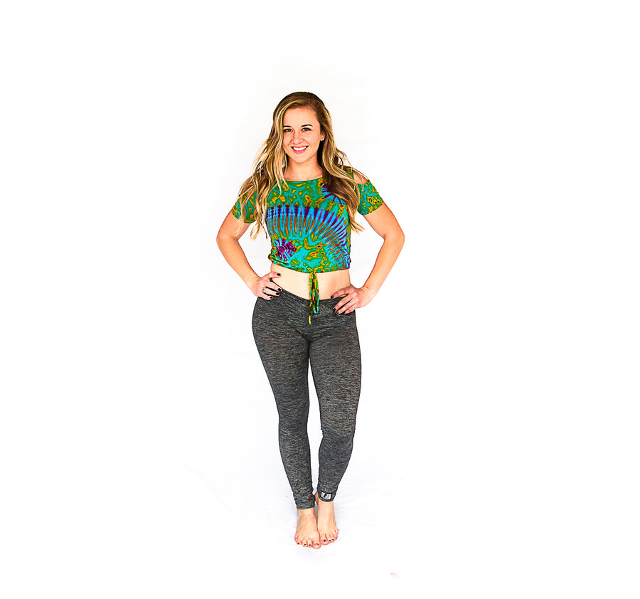 Crop Top in Tie Dye-The High Thai-The High Thai-Yoga Pants-Harem Pants-Hippie Clothing-San Diego