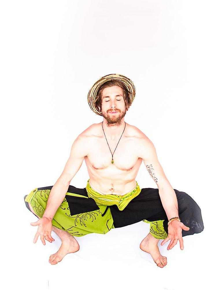 Samurai Fisherman Shorts in Lime Light-The High Thai-The High Thai-Yoga Pants-Harem Pants-Hippie Clothing-San Diego