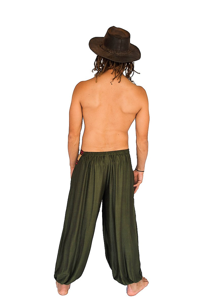 Men S Aladdin Pants In Green The High Thai