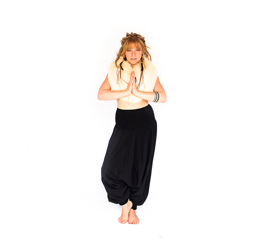 One Piece Jumper Pants in Midnight Black-The High Thai-The High Thai-Yoga Pants-Harem Pants-Hippie Clothing-San Diego