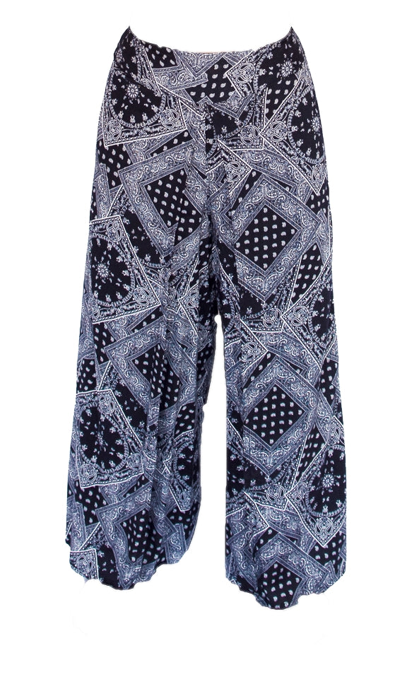 Hypnotic Design Open Leg Pants in Black-The High Thai-The High Thai-Yoga Pants-Harem Pants-Hippie Clothing-San Diego