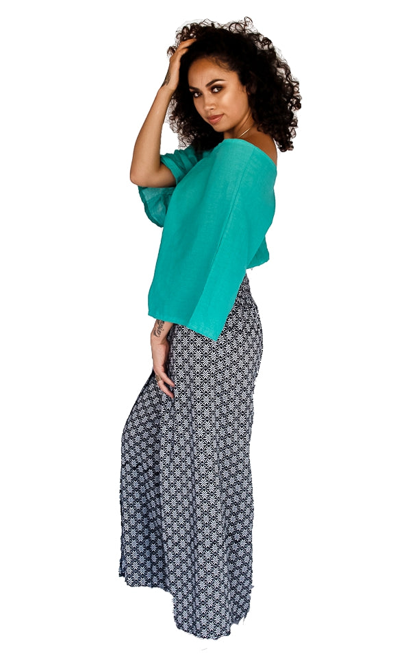 Open Leg Pants in Hypnotic White-The High Thai-The High Thai-Yoga Pants-Harem Pants-Hippie Clothing-San Diego