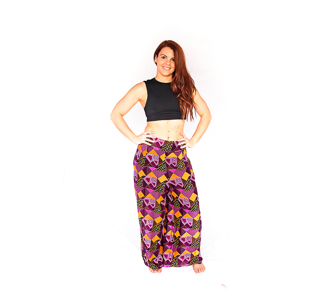 Palazzo Pants in Retro Pink-The High Thai-The High Thai-Yoga Pants-Harem Pants-Hippie Clothing-San Diego