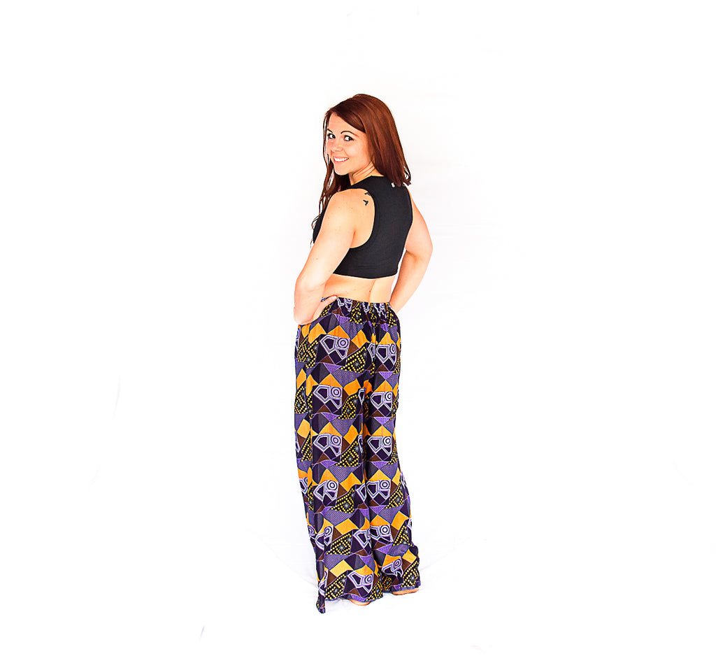 Palazzo Pants in Retro Purple-The High Thai-The High Thai-Yoga Pants-Harem Pants-Hippie Clothing-San Diego