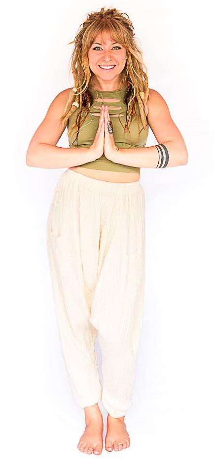 Mid Cut Harem Pants in White-The High Thai-The High Thai-Yoga Pants-Harem Pants-Hippie Clothing-San Diego