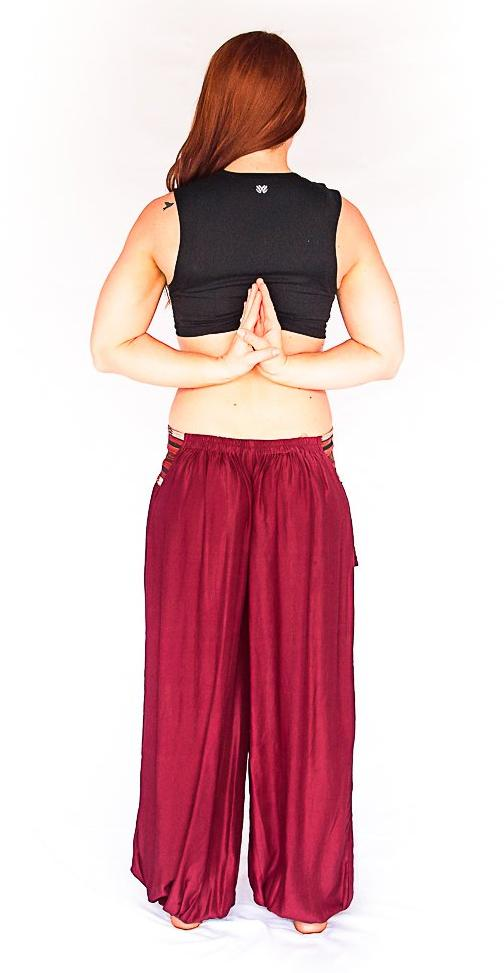 Aladdin Pants in Wine-The High Thai-The High Thai-Yoga Pants-Harem Pants-Hippie Clothing-San Diego