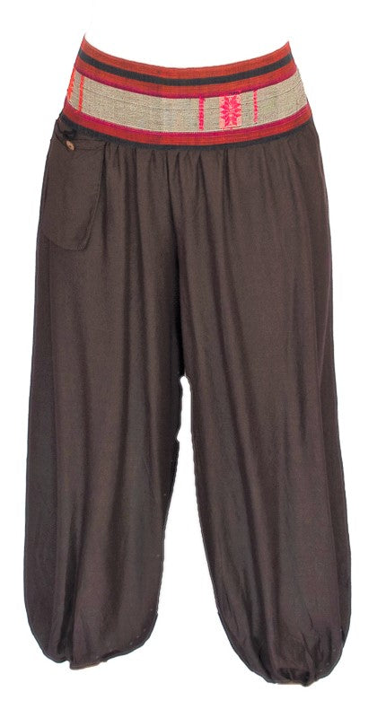 Aladdin Pants in Brown-The High Thai-The High Thai-Yoga Pants-Harem Pants-Hippie Clothing-San Diego