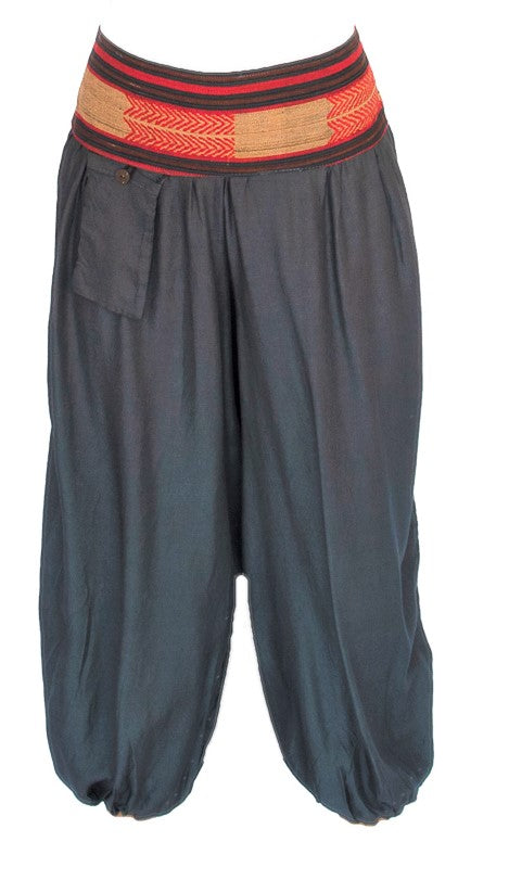 Women's Aladdin Pants in Grey-The High Thai-The High Thai-Yoga Pants-Harem Pants-Hippie Clothing-San Diego