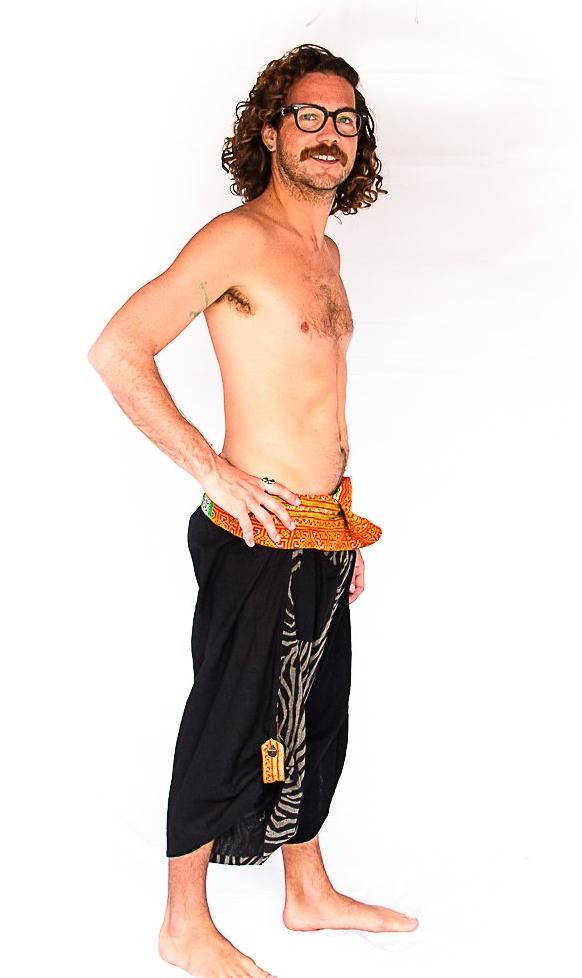 Samurai Fisherman Shorts in Zebra-The High Thai-The High Thai-Yoga Pants-Harem Pants-Hippie Clothing-San Diego