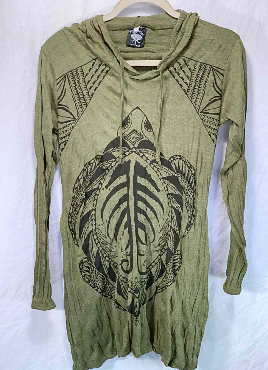 Women's Small Hoody Dress-The High Thai-The High Thai-Yoga Pants-Harem Pants-Hippie Clothing-San Diego