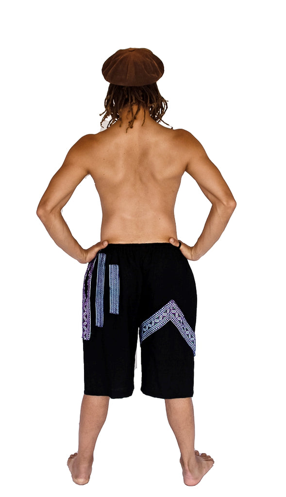 Tribal Sacred Line Hemp Shorts-The High Thai-The High Thai-Yoga Pants-Harem Pants-Hippie Clothing-San Diego