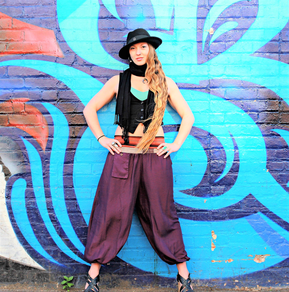 Women's Aladdin Pants in Royal Purple