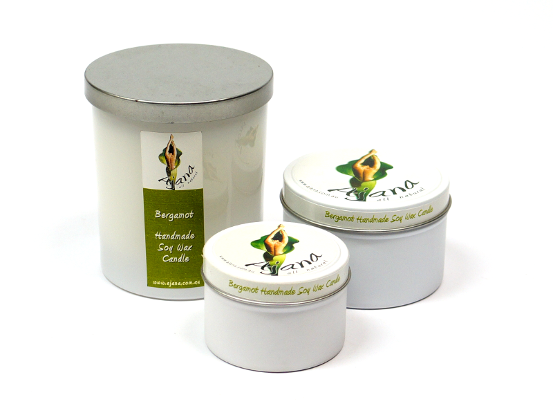 Bergamot Essential Oil Soy Wax Candle