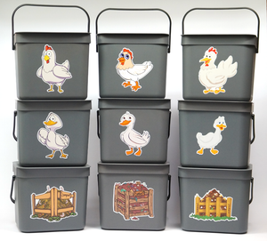 Recycling Buckets - Happy Duck