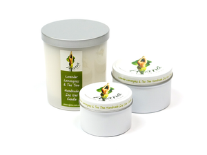 Lavender Lemongrass Tea Tree Soy Wax Candle