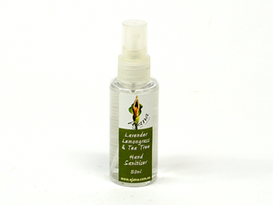 Lavender Lemongrass Tea Tree Hand Sanitiser - 50ML Spray Pump Pack