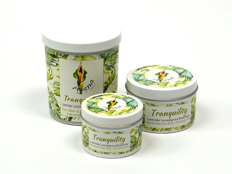 Tranquility Essential Oil Soy Wax Candle