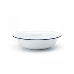 Classic Enamel Basin 18 cm White with Blue Lining