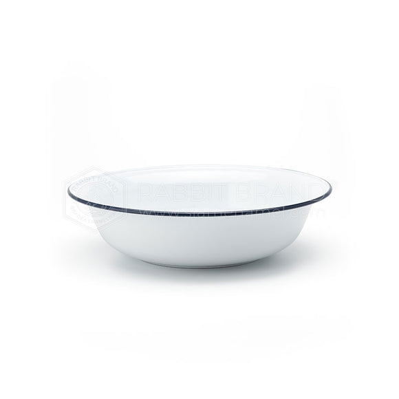 Classic Enamel Basin 20 cm White with Blue Lining