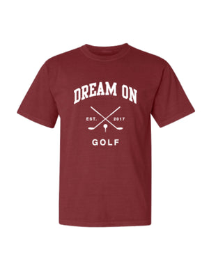 DREAM ON GOLF TEE-CHILI RED