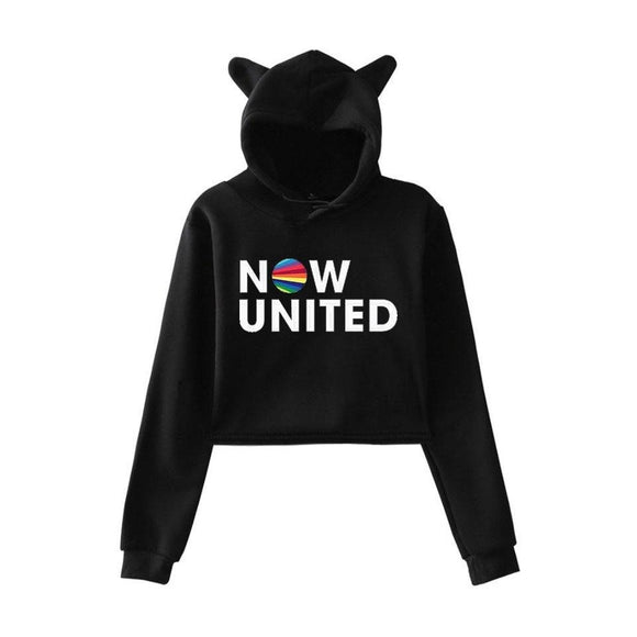 Moletom Cropped Gato - Now United