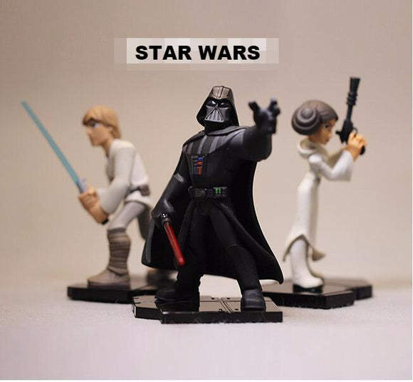 Action Figure Star Wars - Personagens (Darth Vader,Luke e Leia)